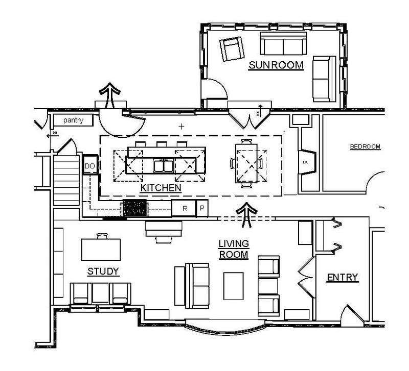 entry skylight craftsman kitchen